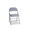 Steel Folding Chair with Two-Brace Support, Light Gray Seat/Light Gray Back, Light Gray Base, 4/Carton
