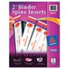 """2"""" Binder Spine Inserts, 20/PK"""