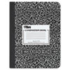 Composition Book w/Hard Cover, Wide Rule, 9 3/4 x 7 1/2, White, 100 Sheets