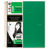 Wirebound Quadrille Notebook, 8 1/2 x 11, 1 Subject, White Paper, 100 Sheets, Assorted