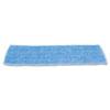 "Economy Wet Mopping Pad, Microfiber, 18"", Blue, 12/CT"