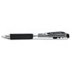 WOW! Retractable Gel Pen, .7mm, Trans Barrel, Black Ink, Dozen