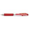 WOW! Retractable Gel Pen, .7mm, Trans Barrel, Red Ink, Dozen