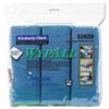 Cloths w/Microban, Microfiber, 15 3/4 x 15 3/4, Blue, 6/Pack