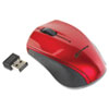 Mini Wireless Optical Mouse, 2.4 GHz Frequency/30 ft Wireless Range, Left/Right Hand Use, Red/Black