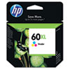60XL Ink Cartridge, Tri-color (CC644WN)