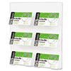 Six-Pocket Wall Mount Business Card Holder, 8 3/8 x 1 1/2 x 9 3/4, Clear