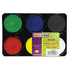 Tempera Cakes, 6 Assorted Colors, 6/Pack
