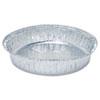 "Round Aluminum To-Go Containers, 48 oz, 9"" Diameter x 1.66""h, Silver, 500/Carton"