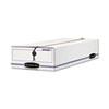 LIBERTY Check/Voucher Storage Box, 10-3/4 x 23-1/4 x 4-5/8, White/Blue, 12/CT.