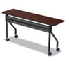 OfficeWorks Mobile Training Table, Rectangular, 72w x 18d x 29h, Mahogany/Black