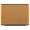Cork Bulletin Board, 72 x 48, Aluminum Frame w/Light Cherry Wood Grained Finish
