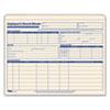 Employee Record Master File Jacket, 9 1/2 x 11 3/4, 10 Point Manila, 15/Pack