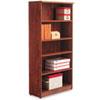 Alera Valencia Series Bookcase, Five-Shelf, 31 3/4w x 14d x 64 3/4h, Medium Cherry