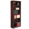 Alera Valencia Series Bookcase, Six-Shelf, 31 3/4w x 14d x 80 1/4h, Mahogany