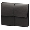"""Extra-Wide Five"""" Exp Wallets, 12 3/8 x 10, Black, 10/Box"""