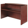 Alera Valencia Series Reception Desk with Counter, 71w x 35.5d x 42.5h, Mahogany