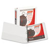 Speedy Spine™ Time Saving/Easy Spine Label Inserting 3 Ring View Binder, 1.5 Inch Round Ring, Customizable Clear View Cover, White