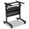 Alera Valencia Flip Training Table Base, Modesty Panel, 28.5 x 19.75 x 28.5, Black