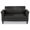 Alera Reception Lounge Furniture, Loveseat, 55.5w x 31.5d x 32h, Black