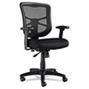 Alera Elusion Series Mesh Mid-Back Swivel/Tilt Chair, Supports up to 275 lbs, Black Seat/Black Back, Black Base