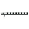 Power Strip, 8 Outlets, 1 1/2 x 24 x 1/2, 15 ft Cord, Silver