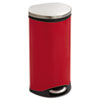 Step-On Medical Receptacle, 7.5gal, Red