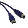USB 3.0 Device Cable, A/B, 15 ft., Blue