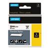 "Rhino Flexible Nylon Industrial Label Tape, 1"" x 11 1/2 ft, White/Black Print"