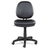 Alera Interval Series Swivel/Tilt Bonded Leather Task Chair, Supports up to 275 lbs, Black Seat/Black Back, Black Base