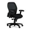 Mercado Series Mid-Back Mesh Chair, Mesh Back/Fabric Seat, Black