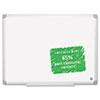 Earth Easy-Clean Dry Erase Board, White/Silver, 36x48