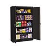 Assembled Jumbo Steel Storage Cabinet, 48w x 24d x 78h, Black