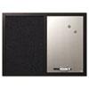Combo Bulletin Board, Bulletin/Dry Erase, 24X18, Black Frame