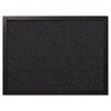 Designer Fabric Bulletin Board, 24X18, Black Fabric/Black Frame