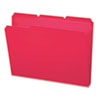 Waterproof Poly File Folders, 1/3 Cut Top Tab, Letter, Red, 24/Box