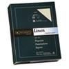 """25% Cotton Linen Business Paper, Ivory, 24 lbs., 8 1/2"""" x 11"""",  500/BX, FSC"""