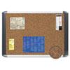 Tech Cork Board, 36x48, Silver/Black Frame