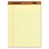 The Legal Pad Ruled Perforated Pads, 8 1/2 x 11 3/4, Canary, 50 Sheets, Dozen
