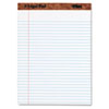 The Legal Pad Ruled Perforated Pads, 8 1/2 x 11 3/4, White, 50 Sheets