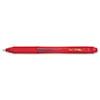 EnerGel-X Retractable Roller Gel Pen, .7mm, Red Barrel/Ink, Dozen