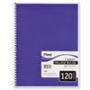 Spiral Bound Notebook, Perforated, College Rule, 8 1/2 x 11, White, 120 Sheets