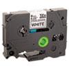 TZe Extra-Strength Adhesive Laminated Labeling Tape, 1/4w, Black on White