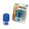 Officemate Twin Pencil/Crayon Sharpener w/Cap