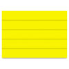 """Dry Erase Magnetic Tape Strips, Yellow, 6"""" x 7/8"""", 25/Pack"""