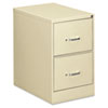 Two-Drawer Economy Vertical File, 18-1/4w x 26-1/2d x 29h, Putty