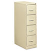 Four-Drawer Economy Vertical File, 15w x 26-1/2d x 52h, Putty