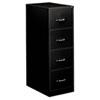 Four-Drawer Economy Vertical File, 18-1/4w x 26-1/2d x 52h, Black