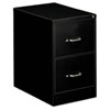 Two-Drawer Economy Vertical File, 18-1/4w x 26-1/2d x 29h, Black