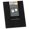 Certificate Holder, Black, Linen, 105 lbs., 12 x 9-1/2, 10/Pack